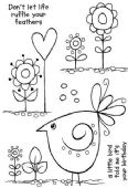 Woodware - Sweet Tweet - Clear Magic Single Stamp - JGS573